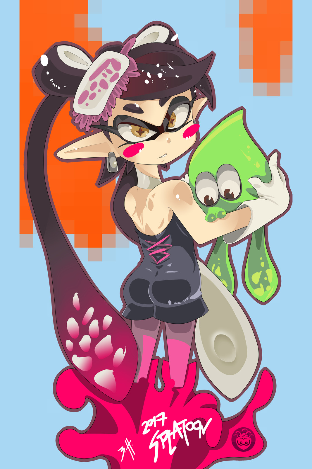 Callie's squid cuddle