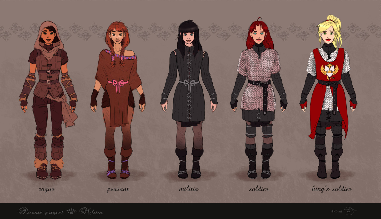 Militia Concepts (Female)
