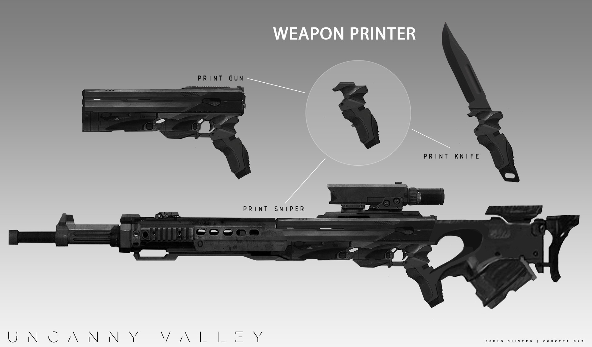 Pablo olivera uncanny valley weapons todas 03