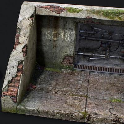 Artvostok studio bunker door