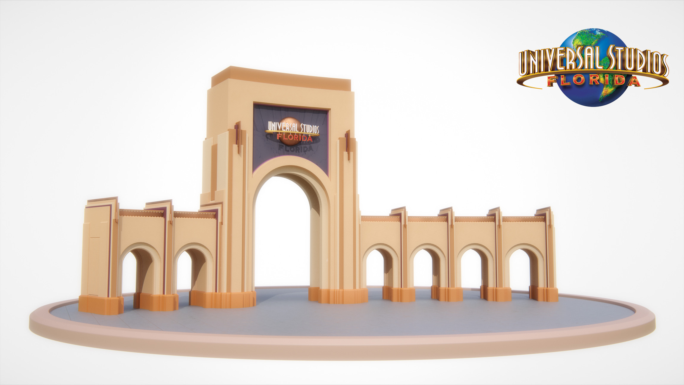 Universal Studios Florida - Entrance Archway - Beauty