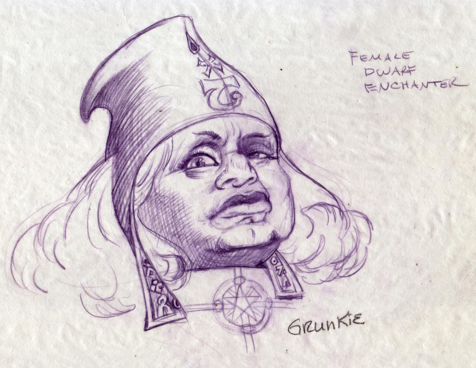Grunkie, Dwarf Sorceress