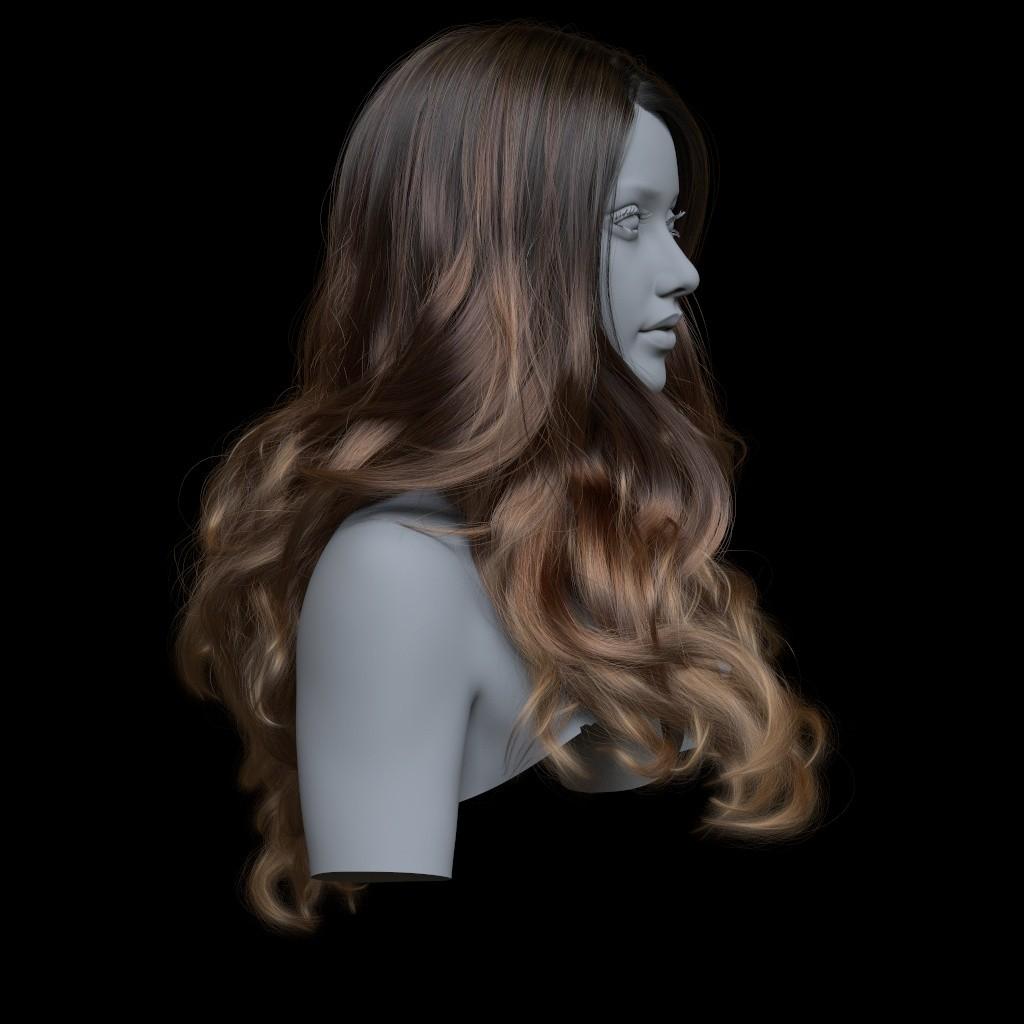 ArtStation - Ornatrix: Loose Hairstyle, Jeordanis Figuereo