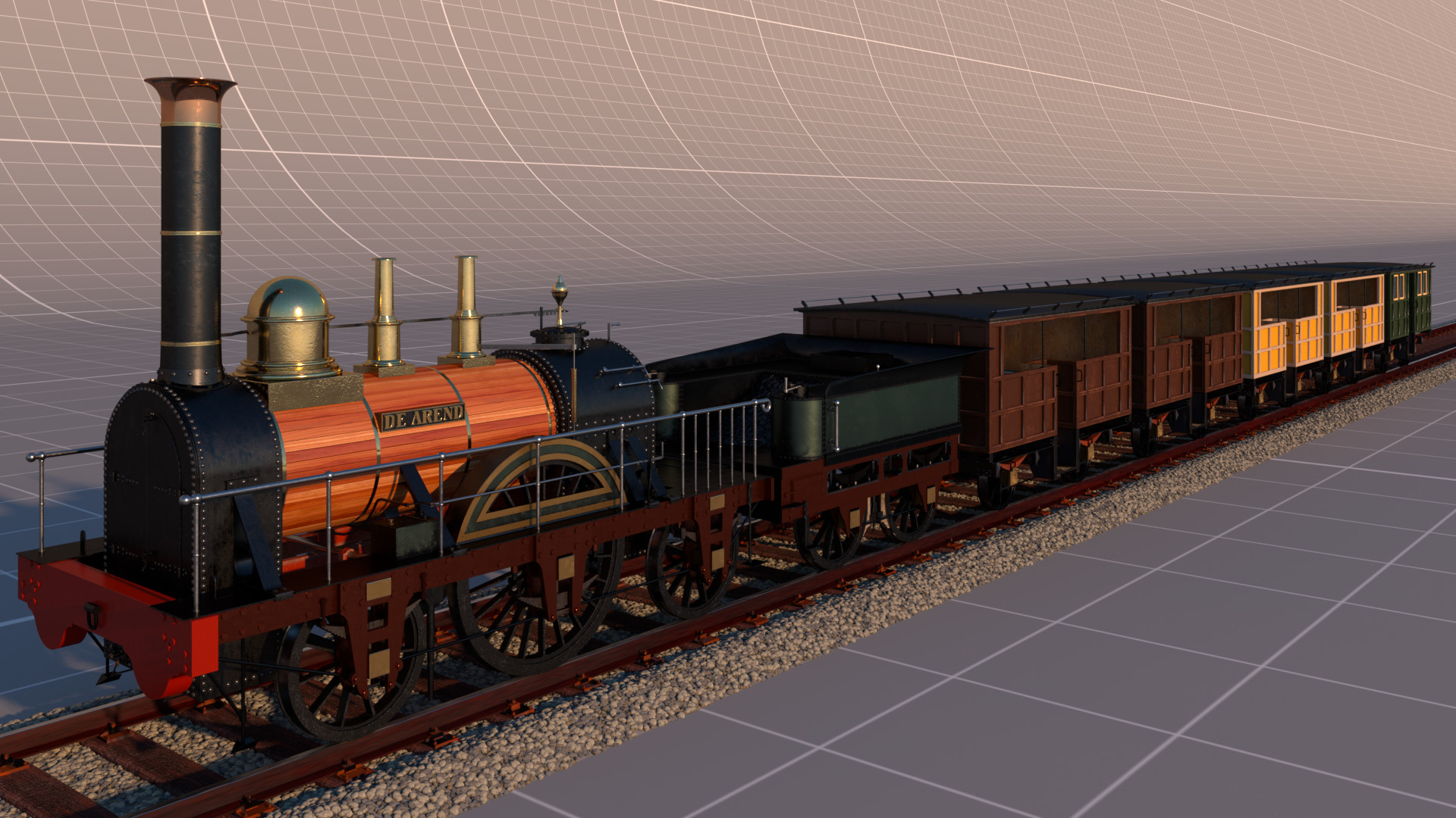 Full render of the train.