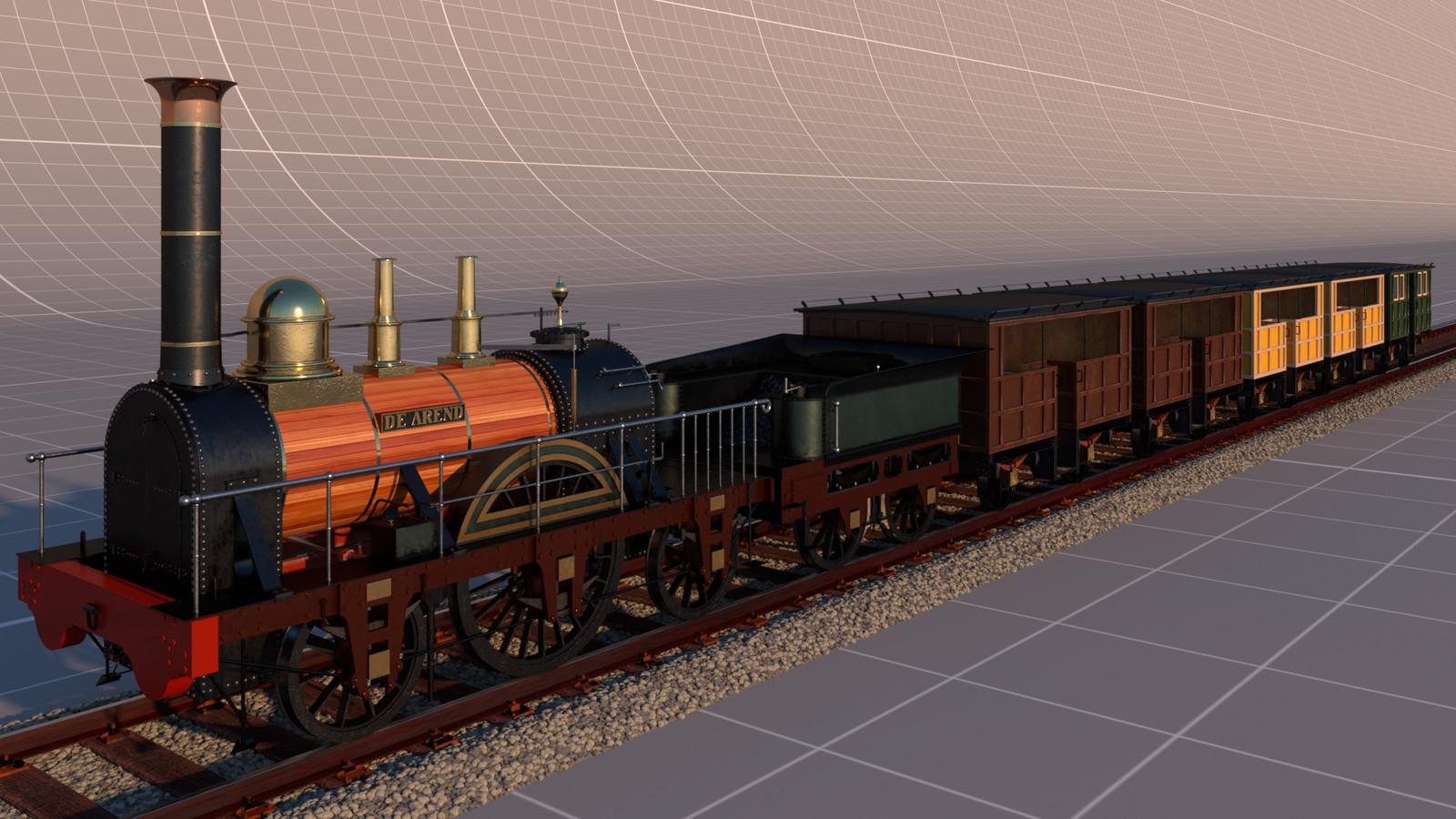 Full render of the train.