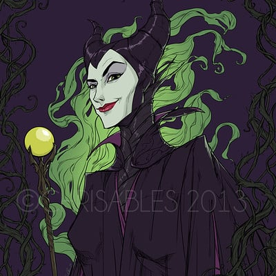 Christopher ables maleficent sketch wm