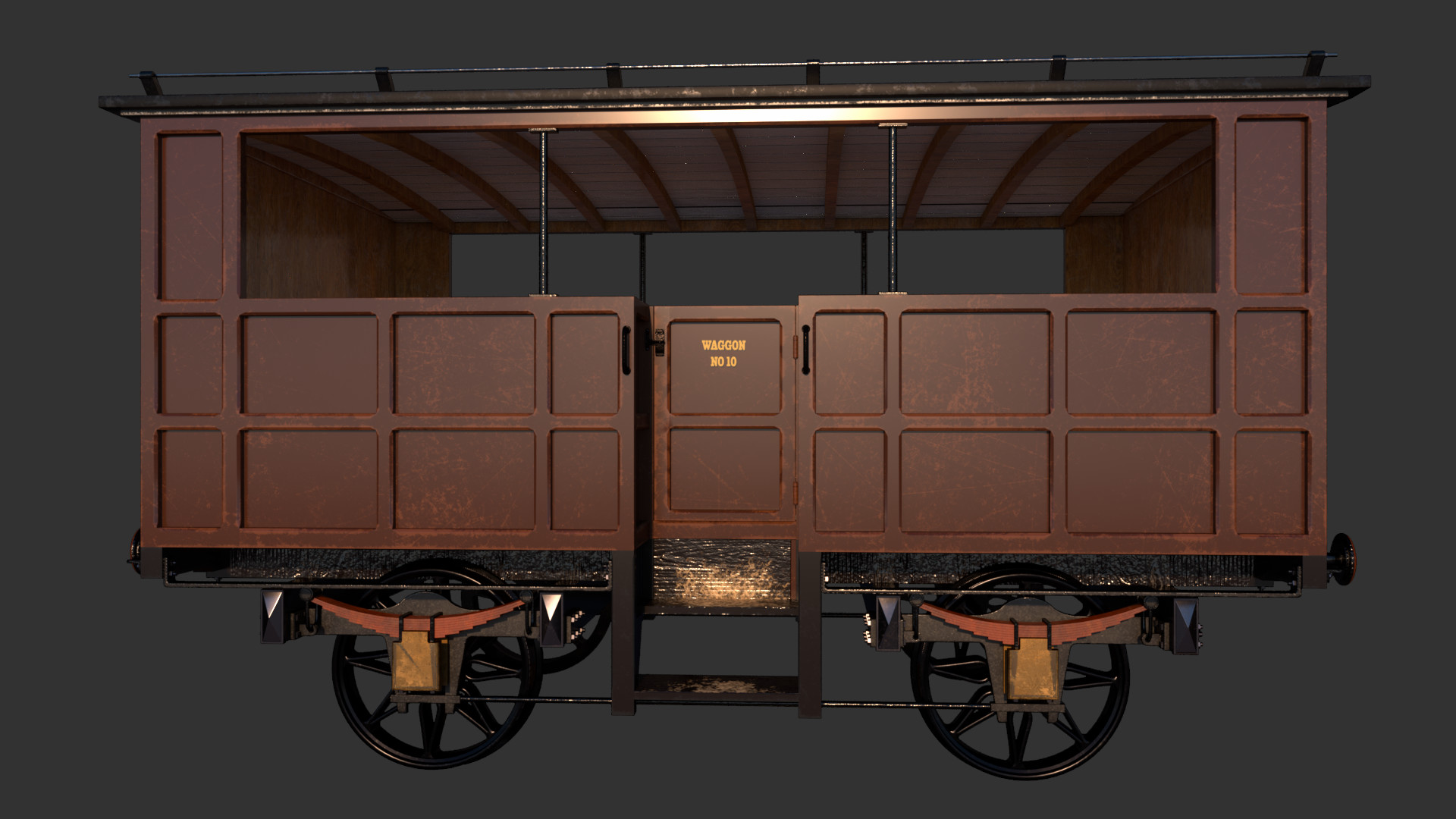 Waggon, color pass. This would be 3rd class. Nothing to protect you from the elements.