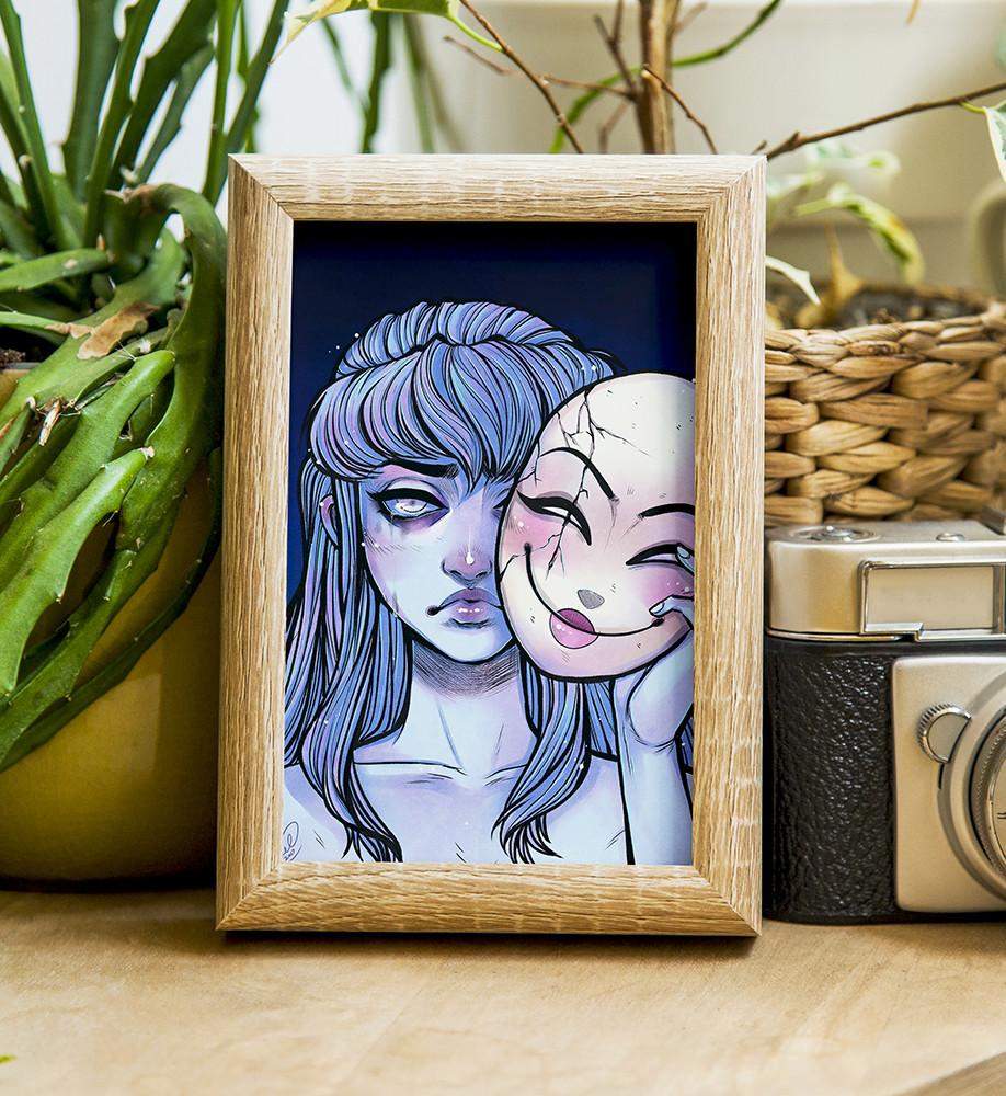 Mellanie chafe mask print