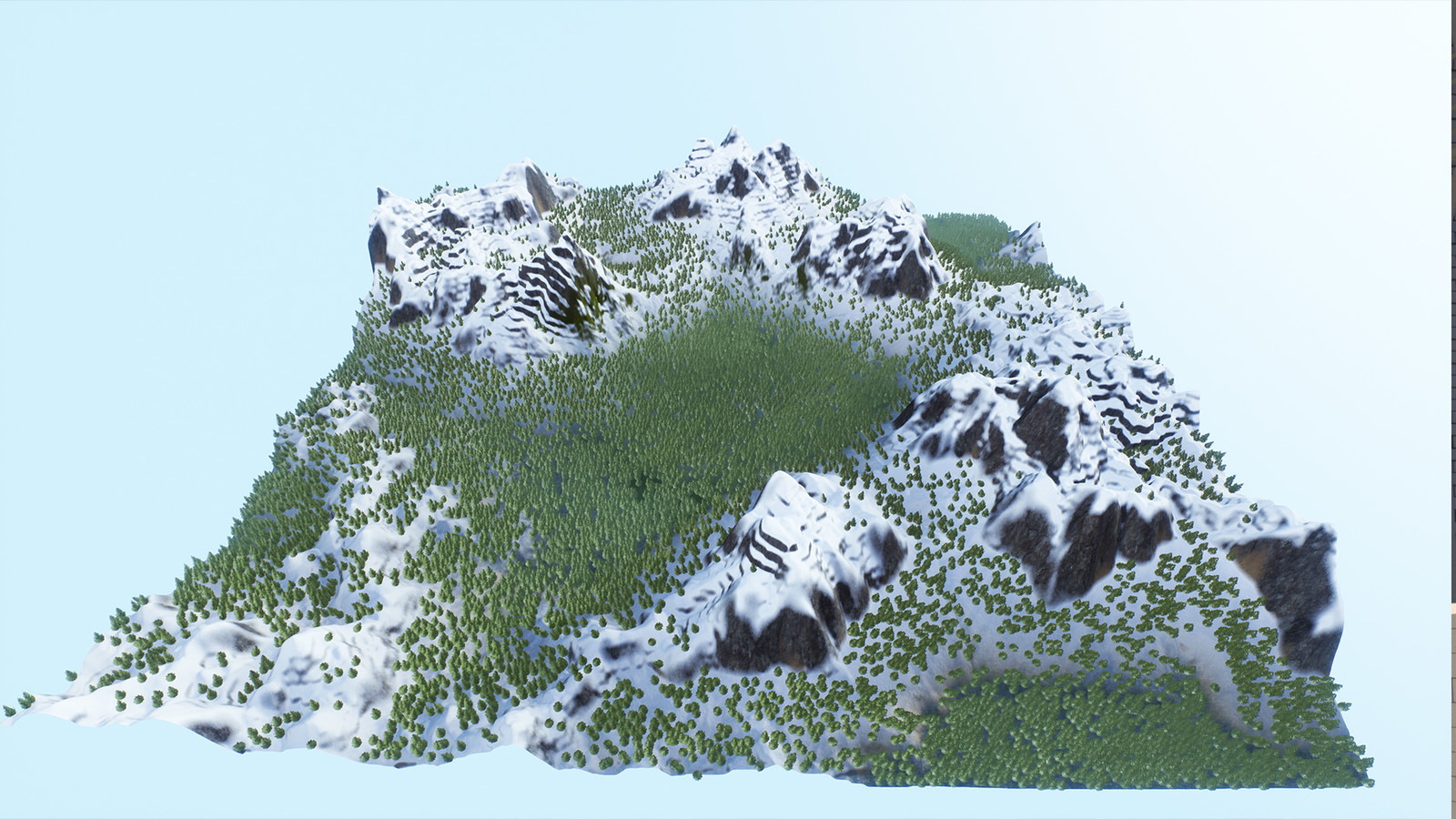 Overview render of the first terrain
