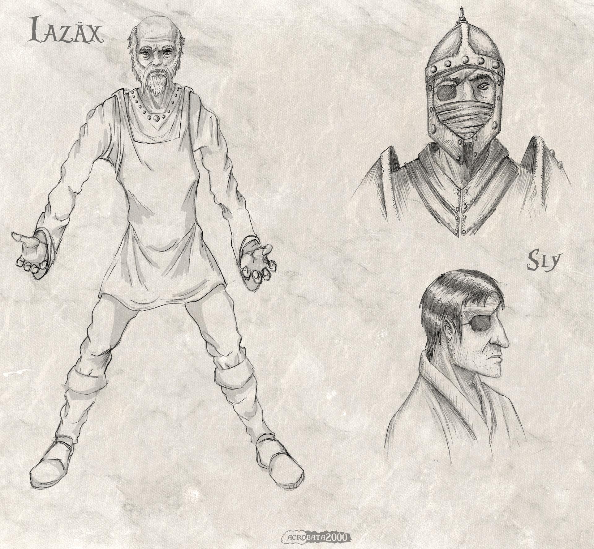 Acrobata2000 dosmil characters