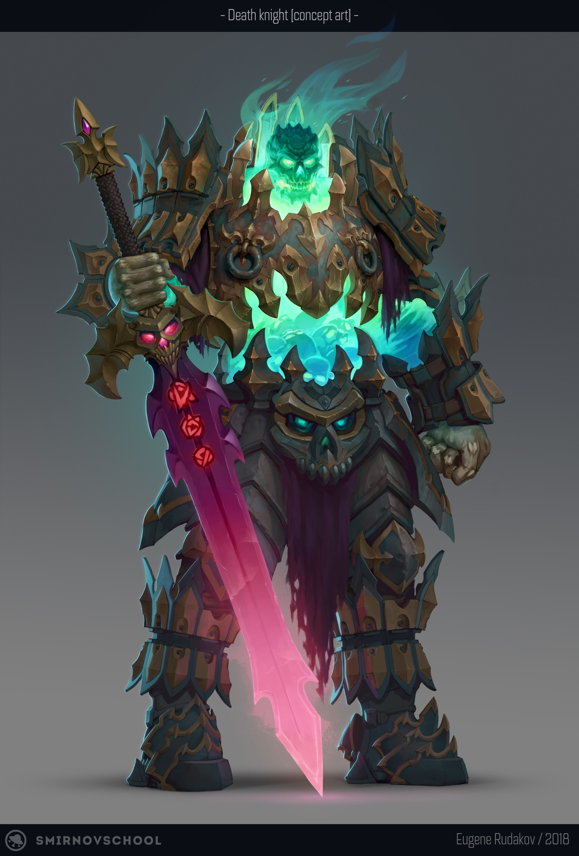 Artstation Death Knight Concept Eugene Rudakov