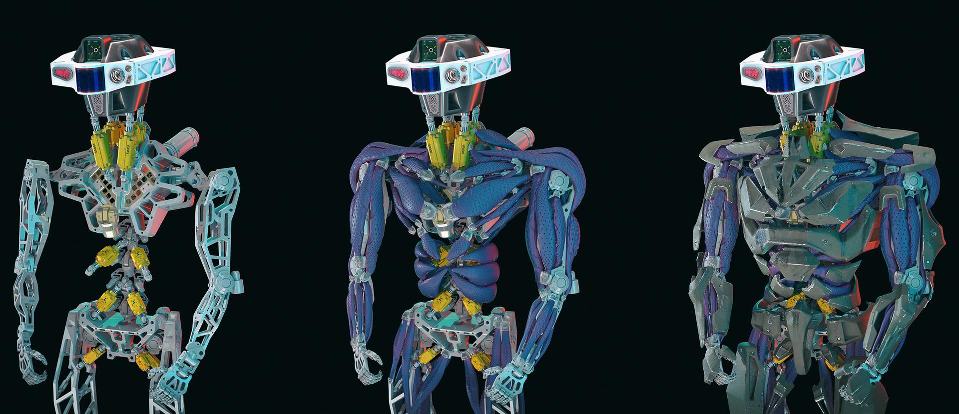 frame -> muscles -> armor
