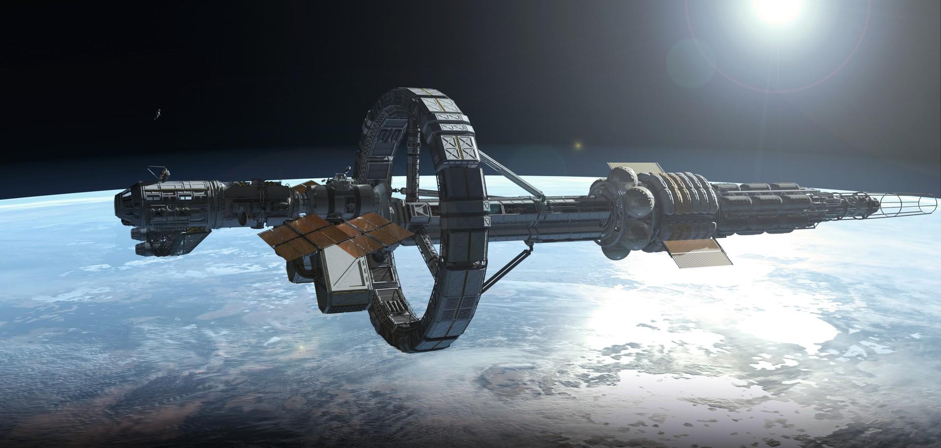 Artstation Interstellar Spaceship Felix Barthel