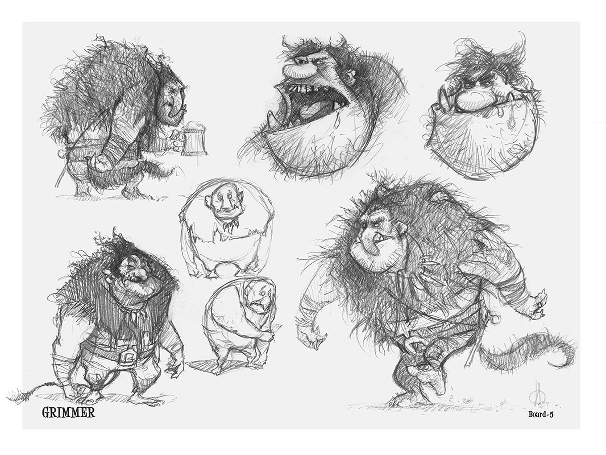 One of the boards that i have made for Grimmer  on the  Animation CG movie -  TROLL