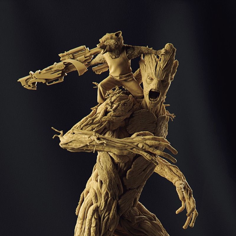 Groot and Rocket - 1/6 Prison Breakout Diorama - Iron Studios