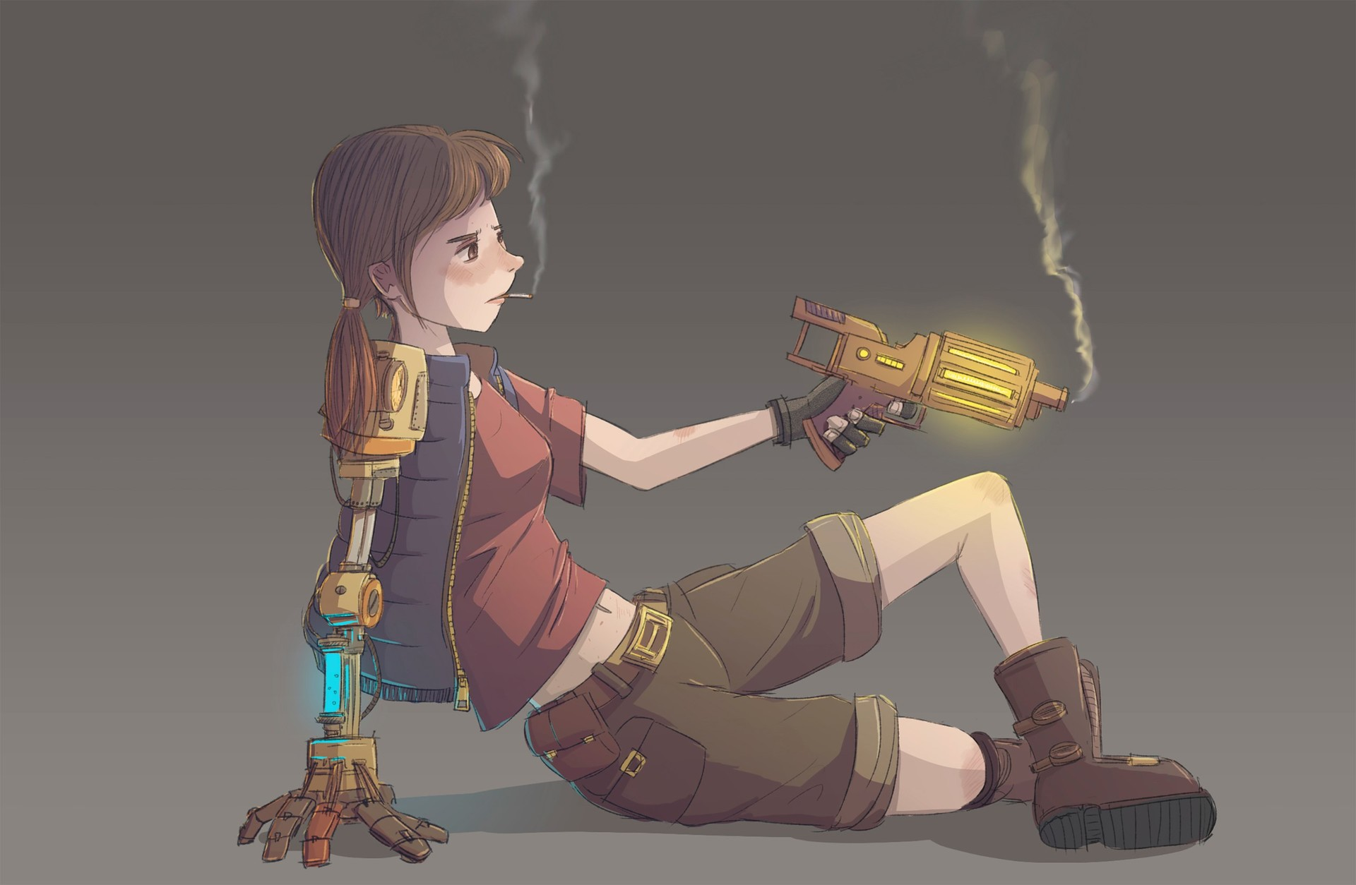 aisen romanov girl iwth gun