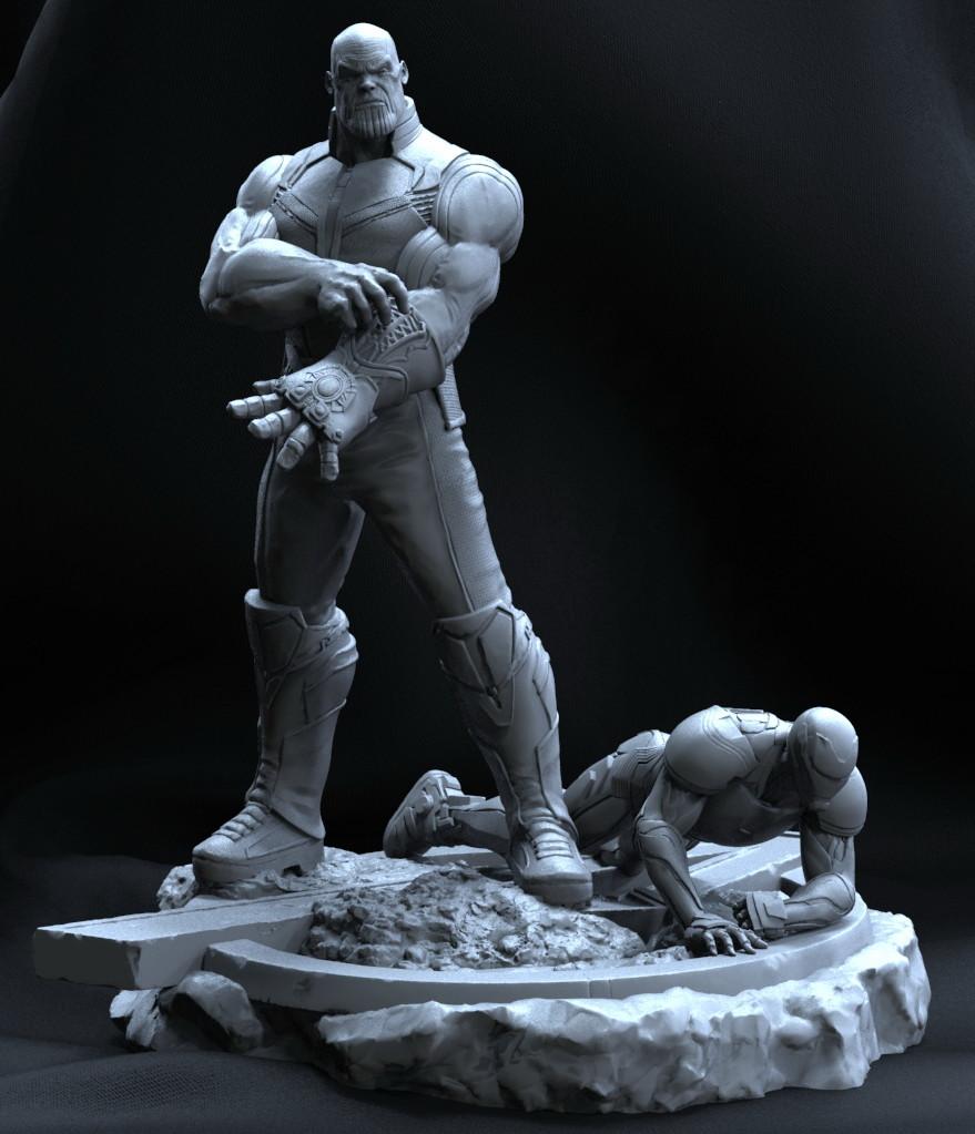Thanos_Statue