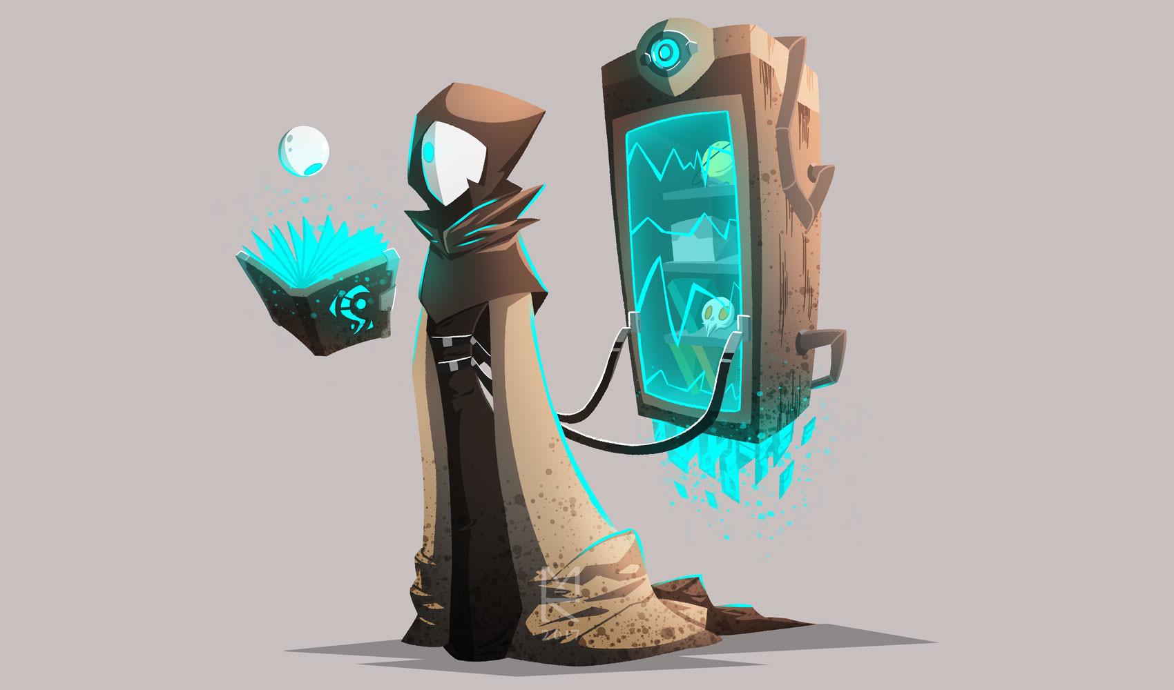 artstation character design merchant minh kieu