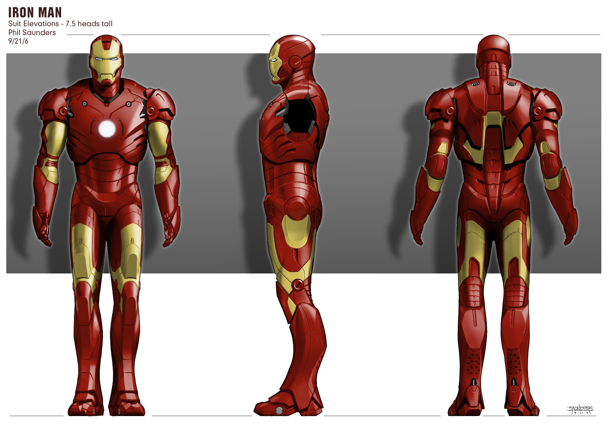 Final turnarounds as submitted to Stan Winston Studios.