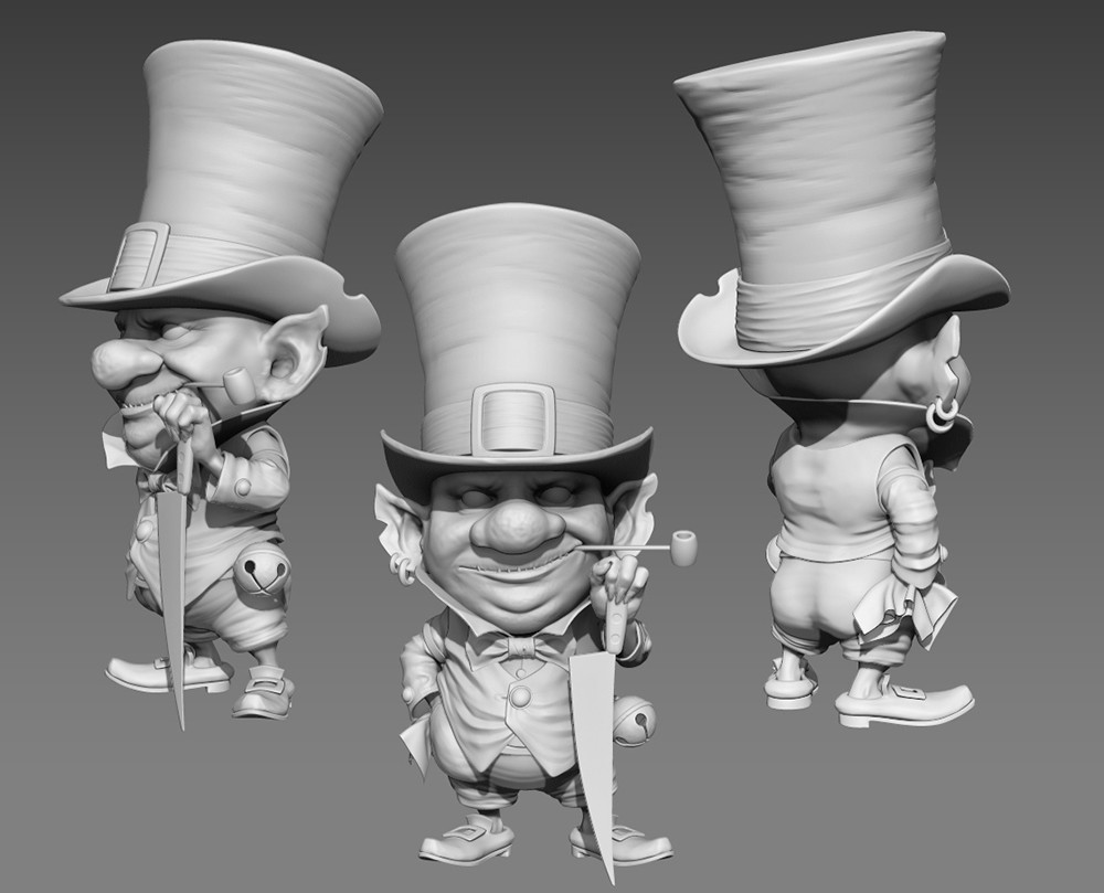 Sculpted by  Brenton R Hesse under ZBRUSH. On my Original illustration.