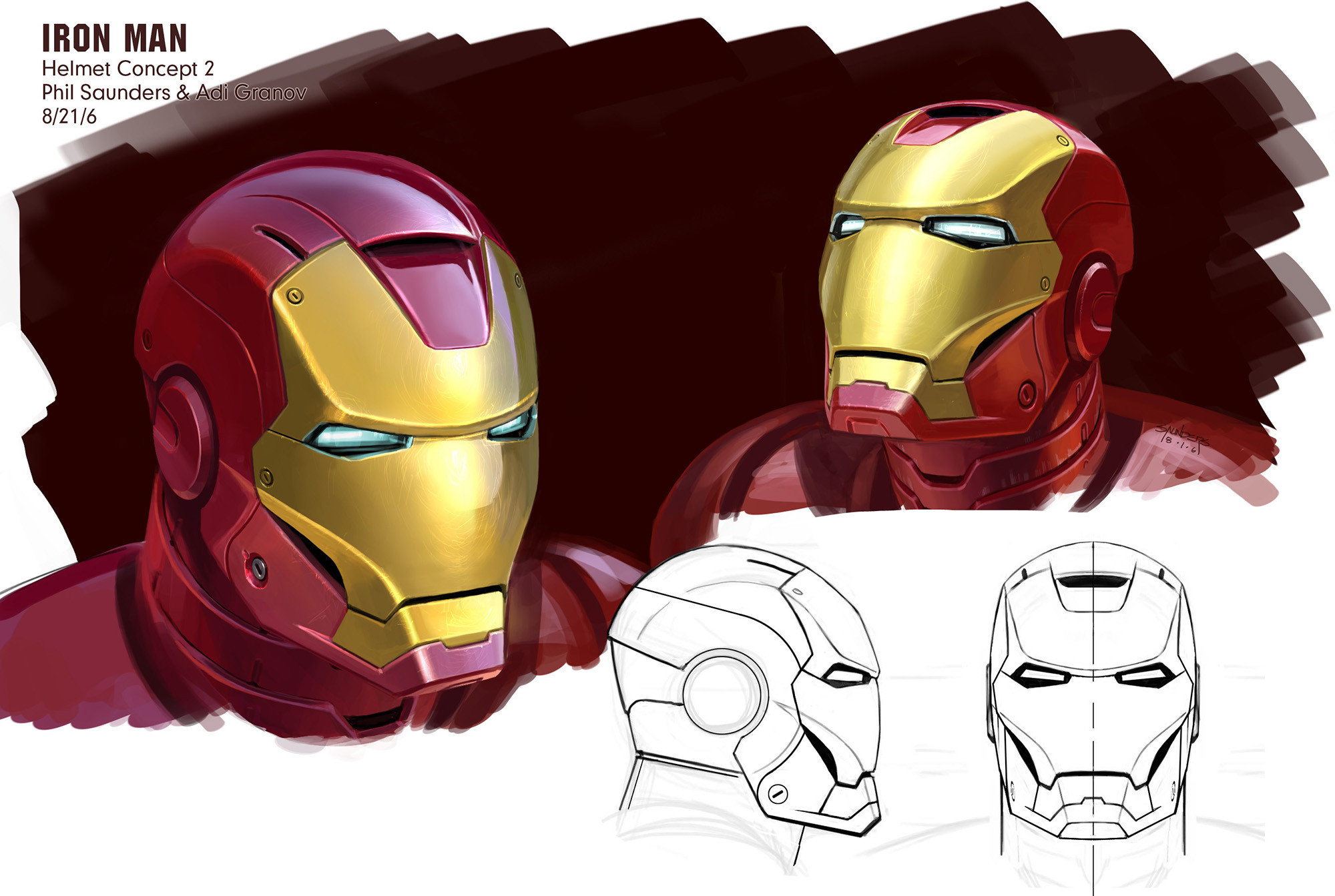 Final design for the helmet incorporating Adi's pass on the design and my own further refinements.