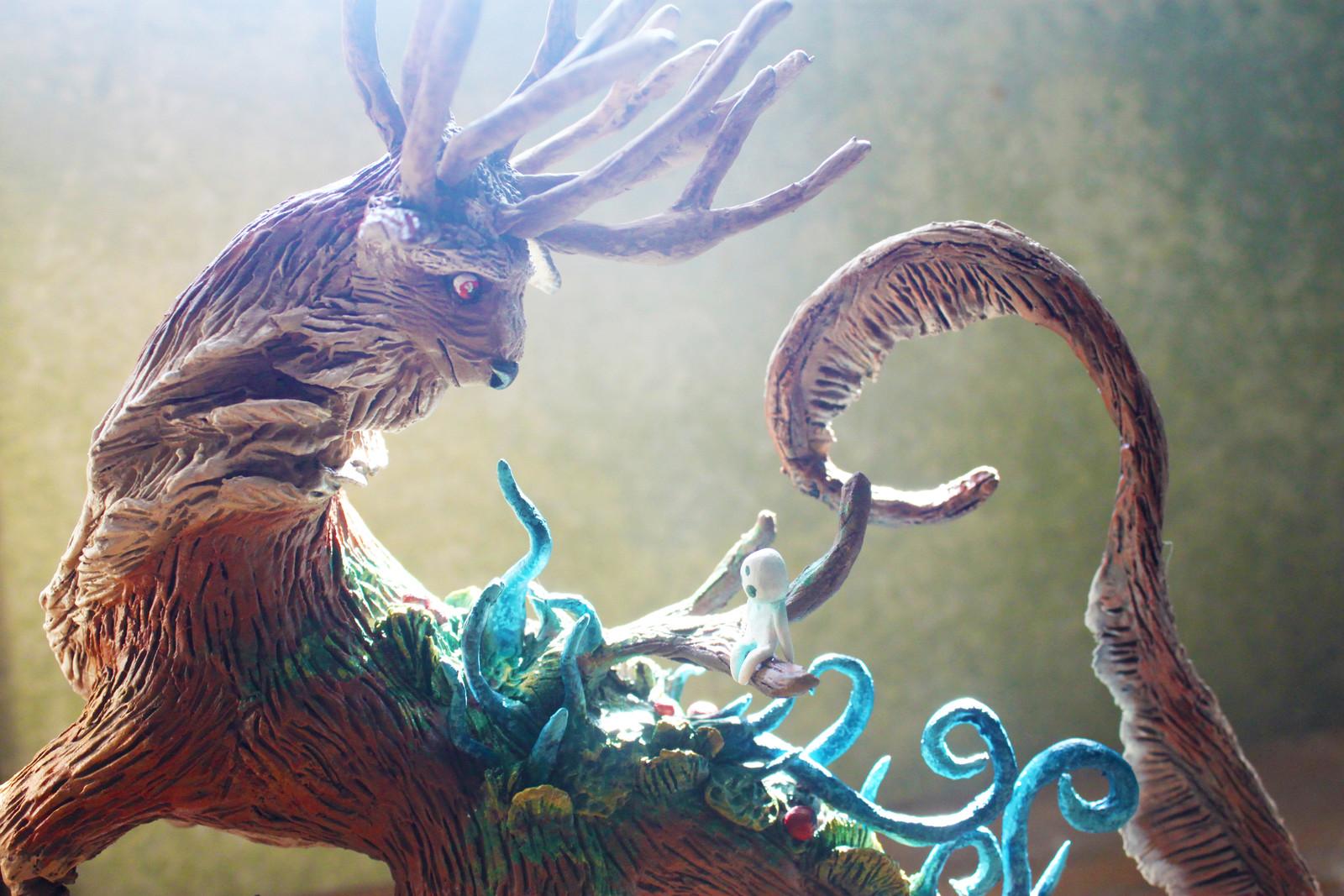 Artstation Princess Mononoke Inspired Forest Spirit Figure