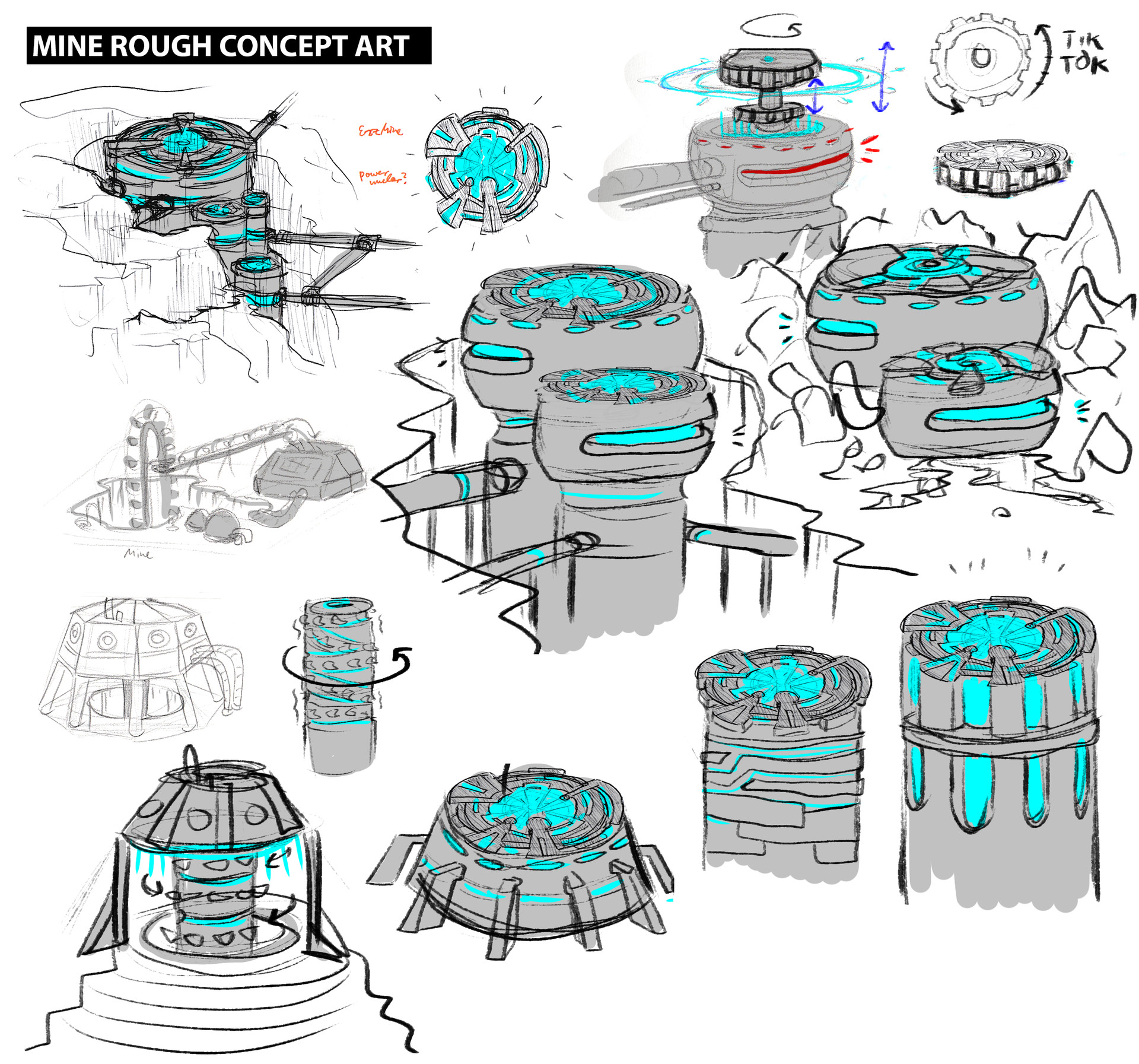 Djamacat gamesports mine rough concept art