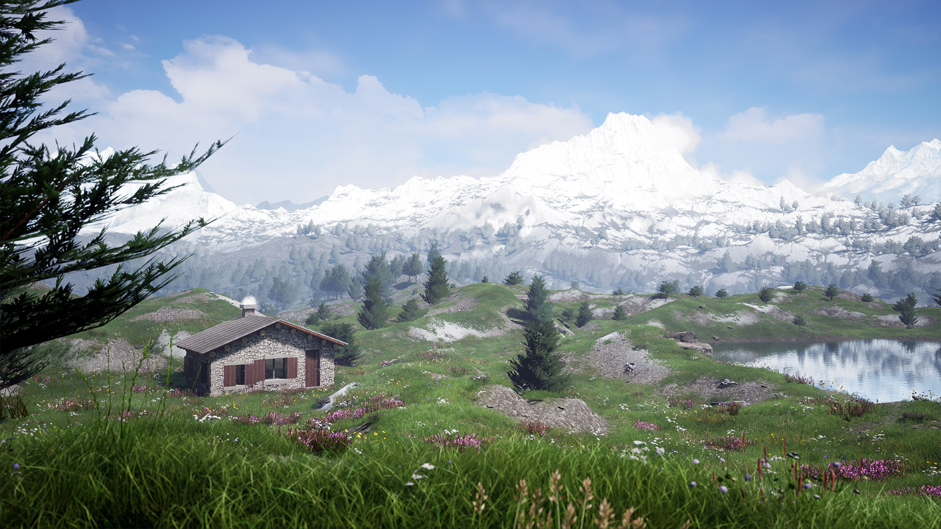 ArtStation - UE4 Speed Alpin environment, Thibault Prédignac