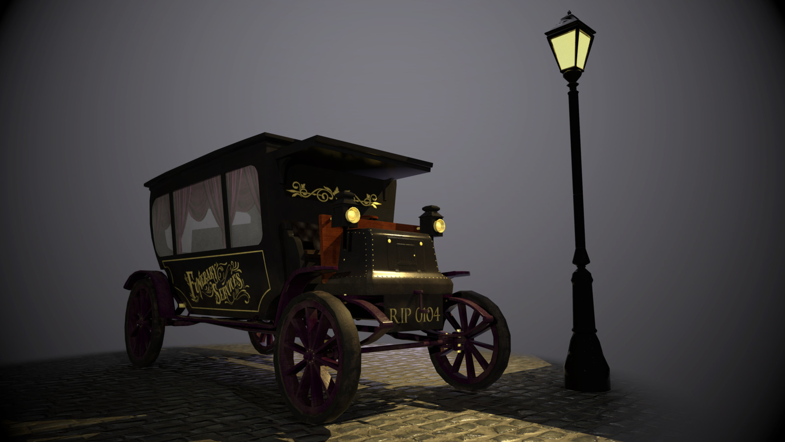 Victorian Hearse (Jack the Ripper themed)