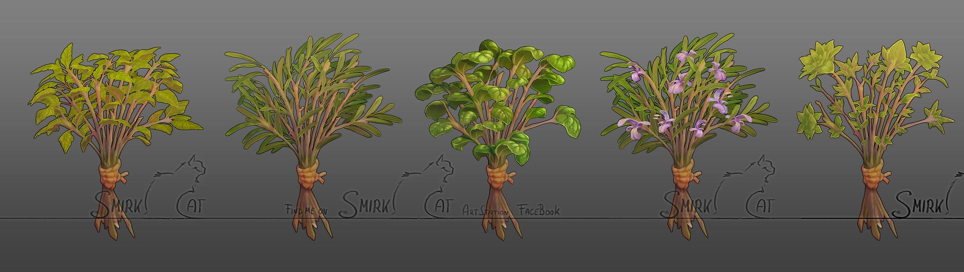 Smirk cat herbs lineup