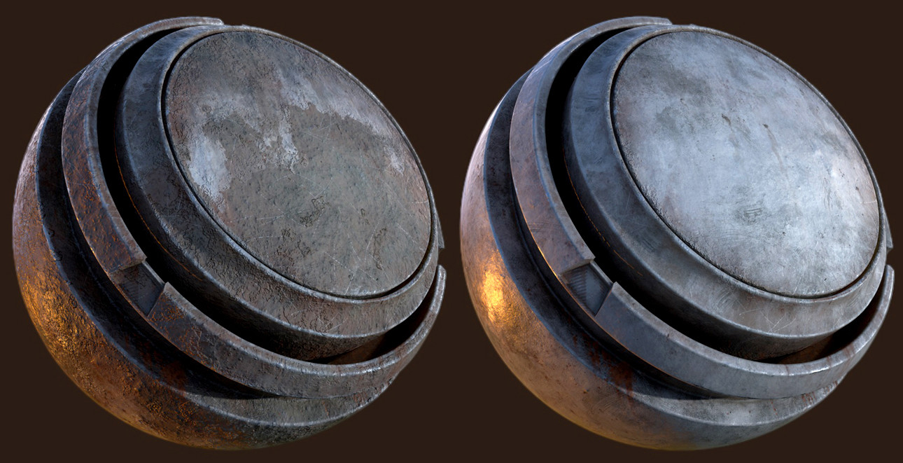 Unique Materials created in Substance Painter (Rusty Beam variants)