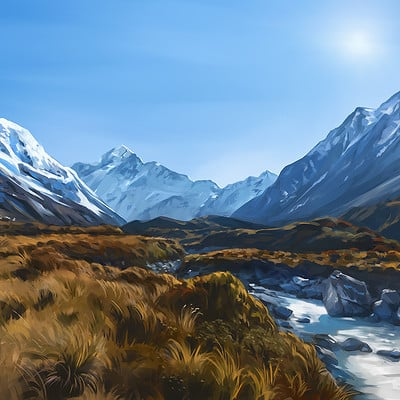 Madeleine bellwoar hooker valley by madeleineink