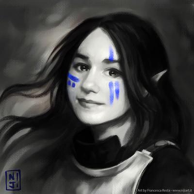 Francesca resta selfportrait nijiart