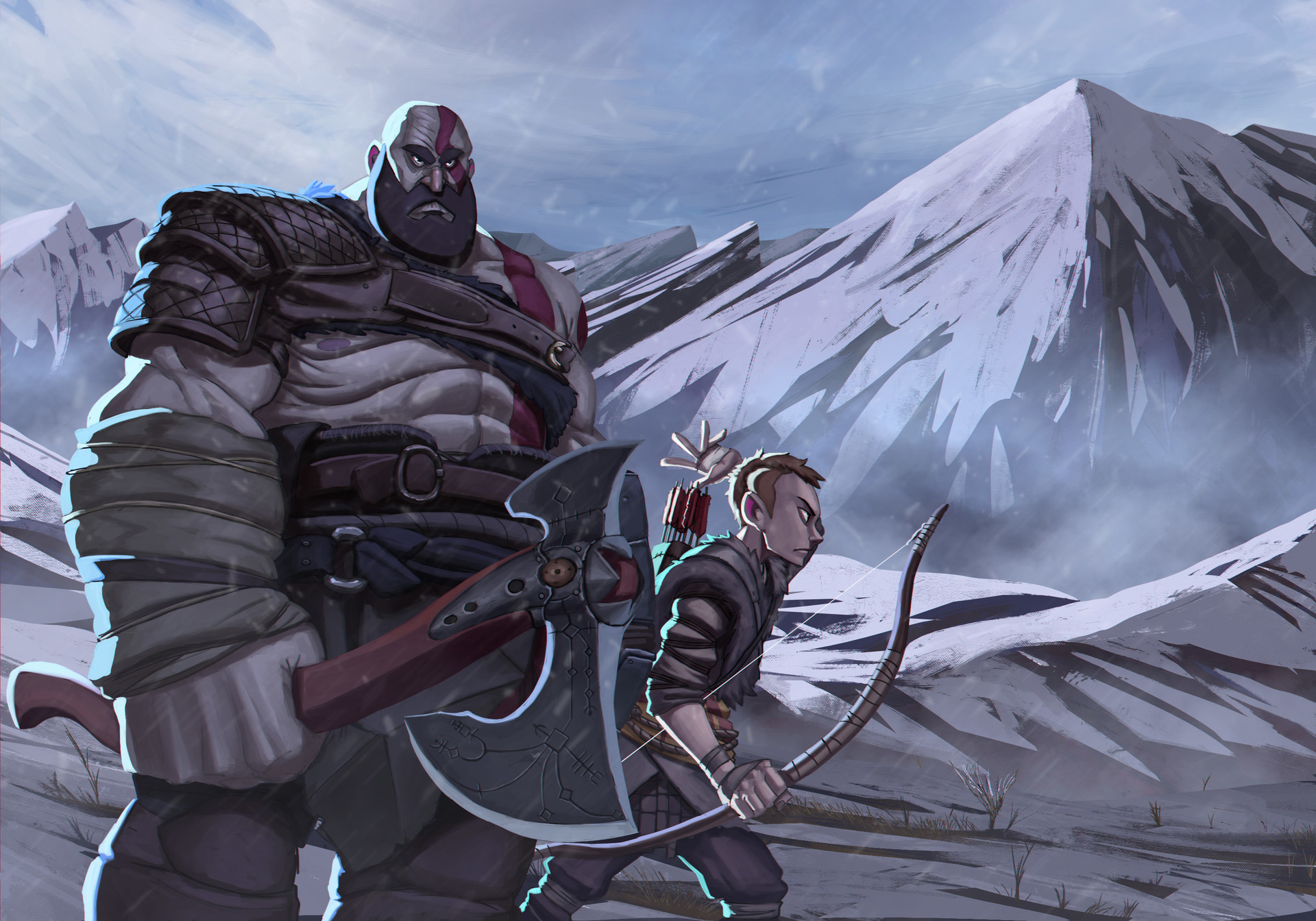Juanda rico god of war kratos and attreus