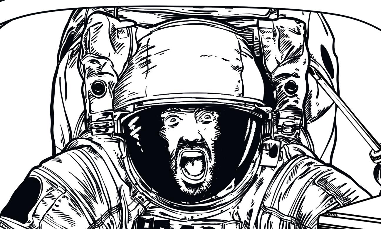 Andy veilski 06 astronaut lineart face