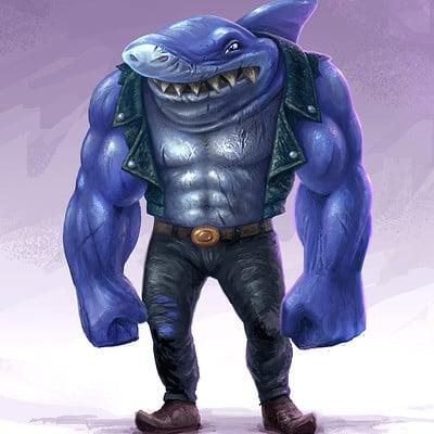 Tom garden blue shark2