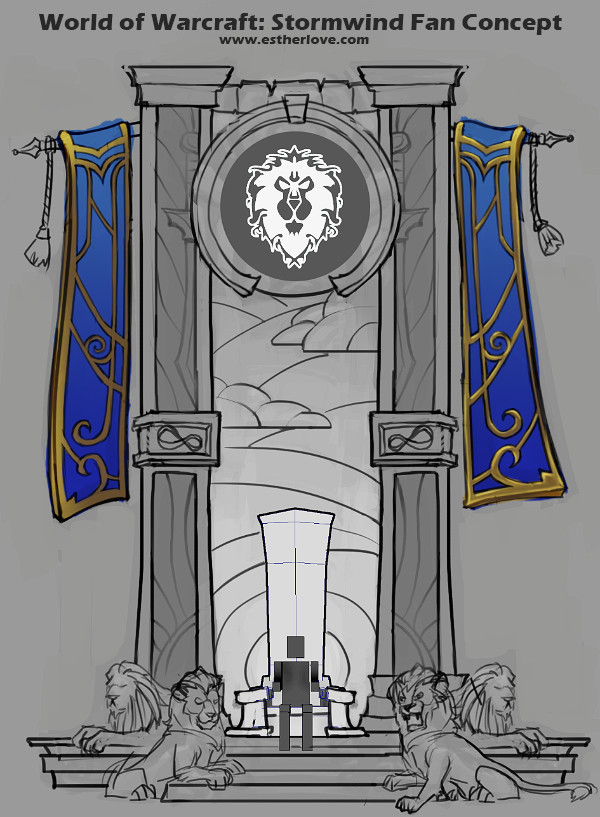 WoW Fan Concept: Stormwind Throne