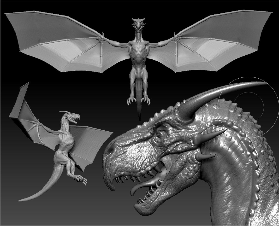 Dragon sculpt (around 20h)