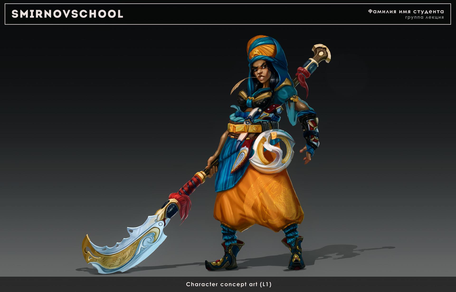 Artstation Desert Warrior Character Ekaterina Massova