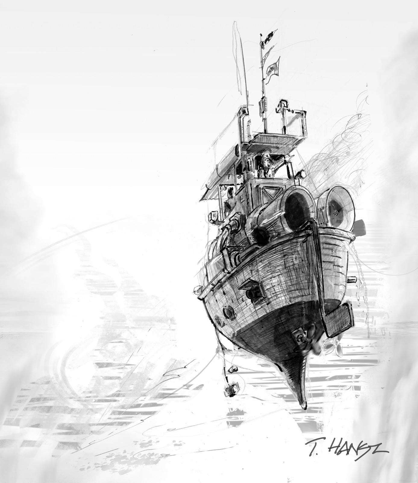 Tim Hansz ink sketch