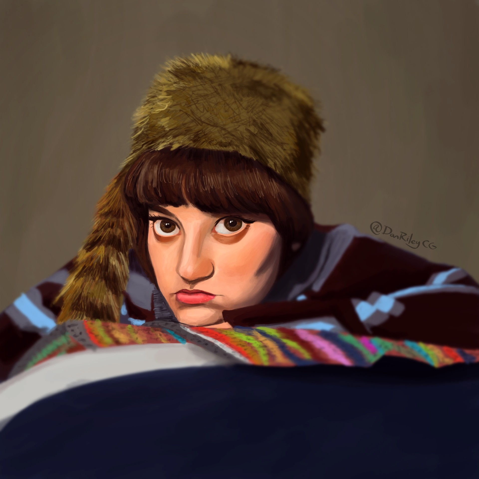 ArtStation - Girl from (Reddit Gets Drawn), Dan Riley