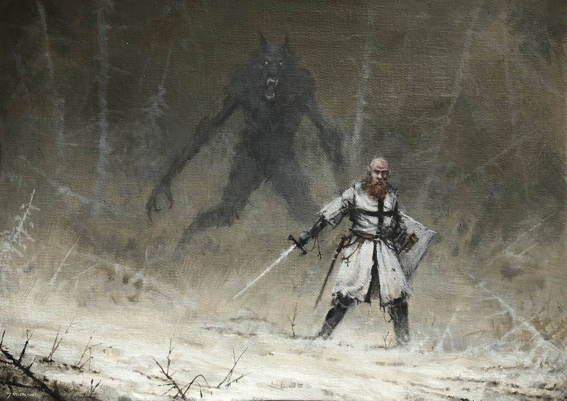 Jakub rozalski wrong place wrong god