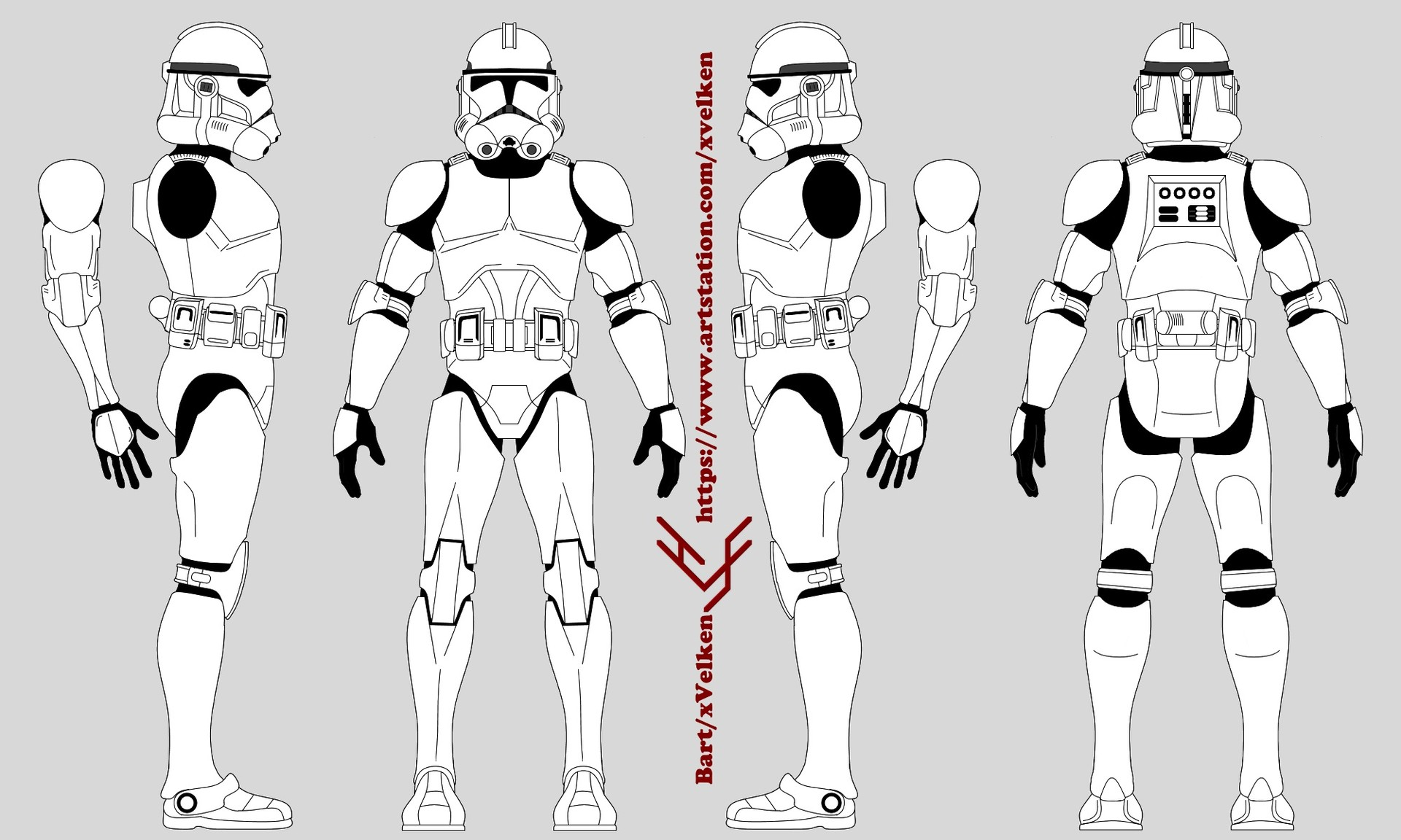 Artstation Star Wars Clone Trooper Armor Templates Bart Antwerpen