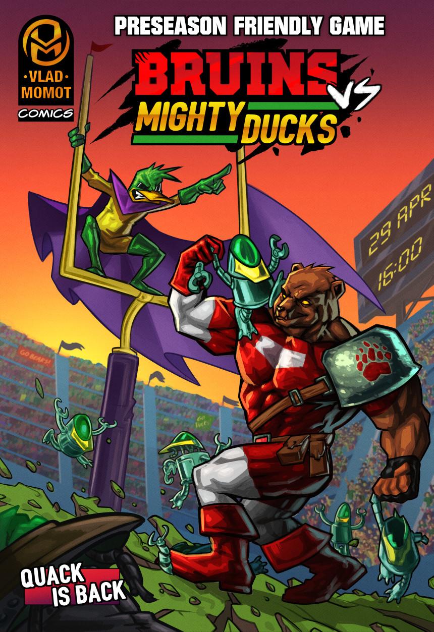 American Football Comic: BRUINS vs MIGHTY DUCKS