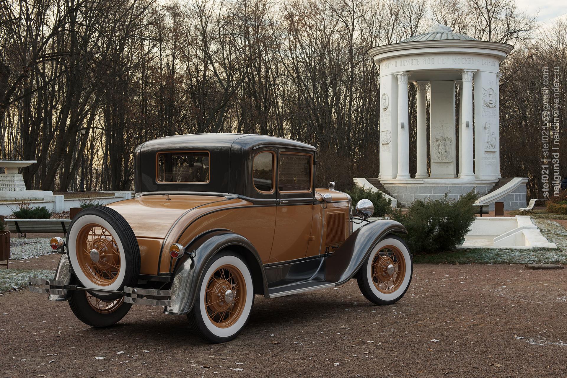 Nail khusnutdinov a0008 ford a de luxe 1931 render back