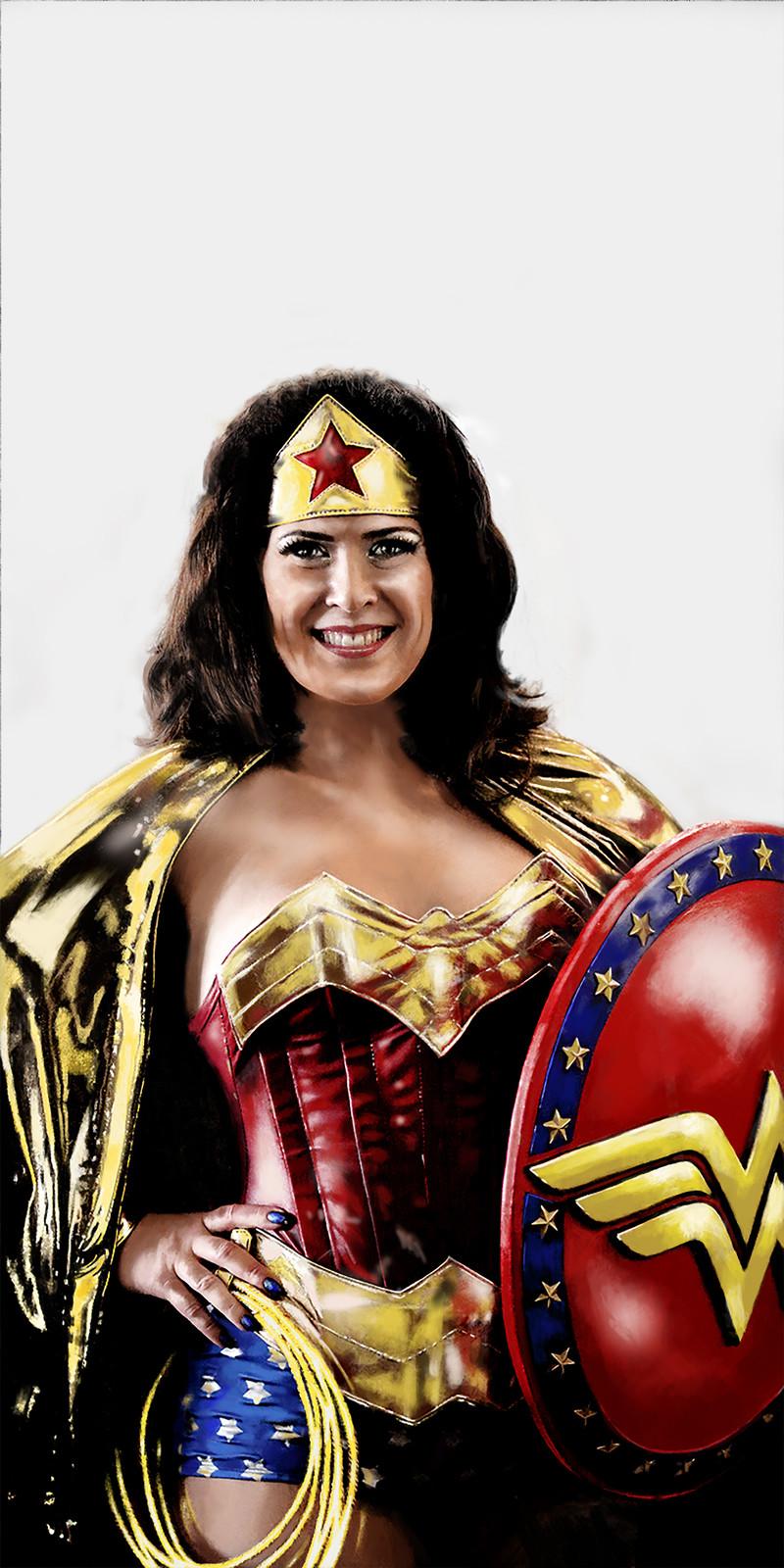 Wonder Woman portrait series using my favorite model.