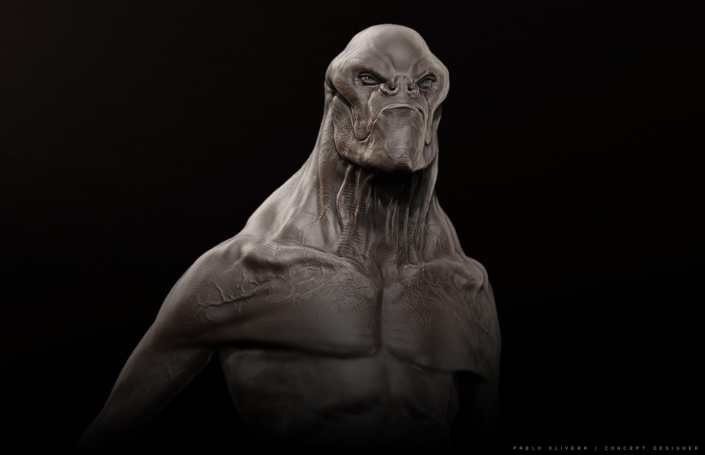 Pablo olivera alien concept 3d zbrush2