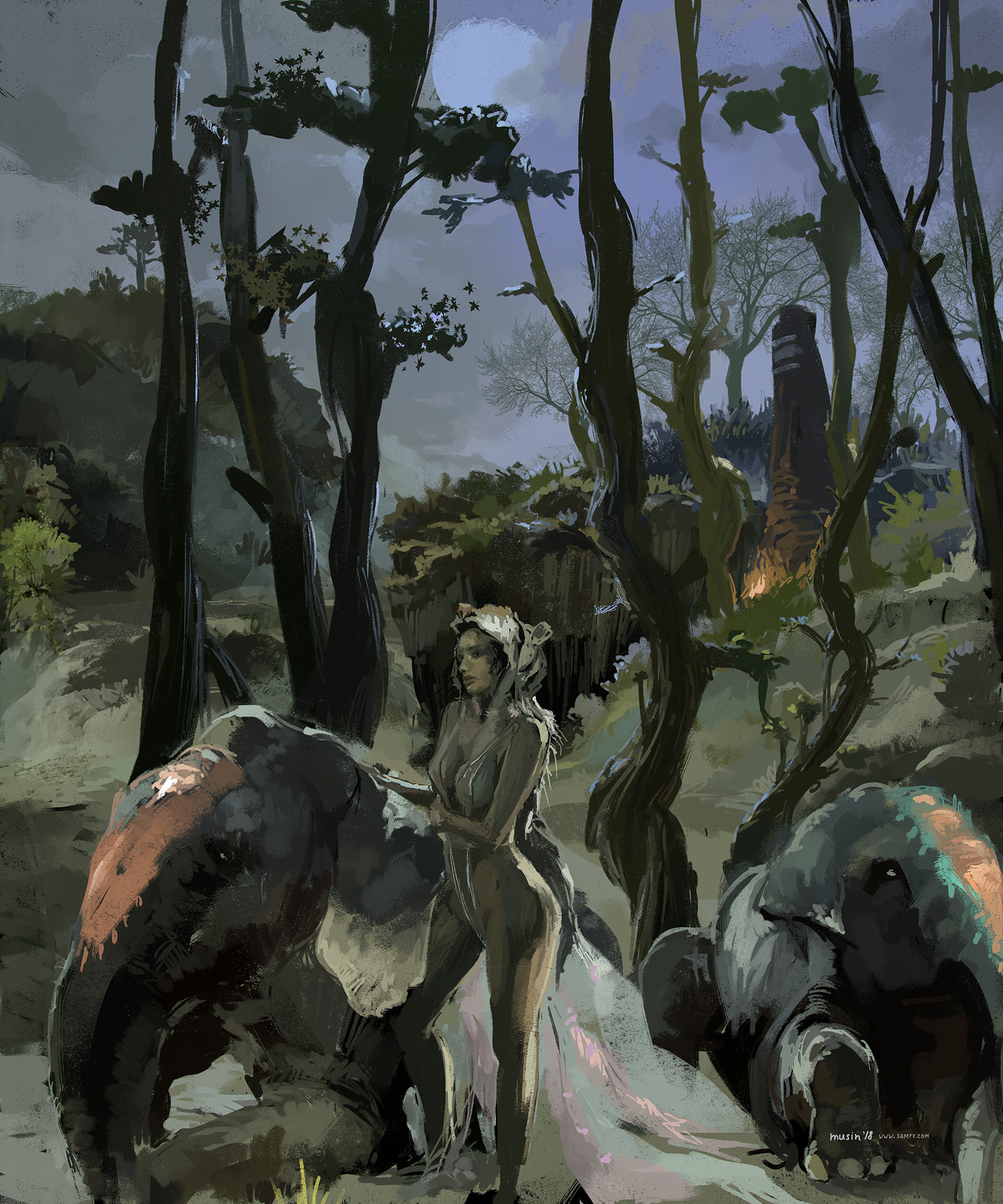 Sergey musin elephants forrest