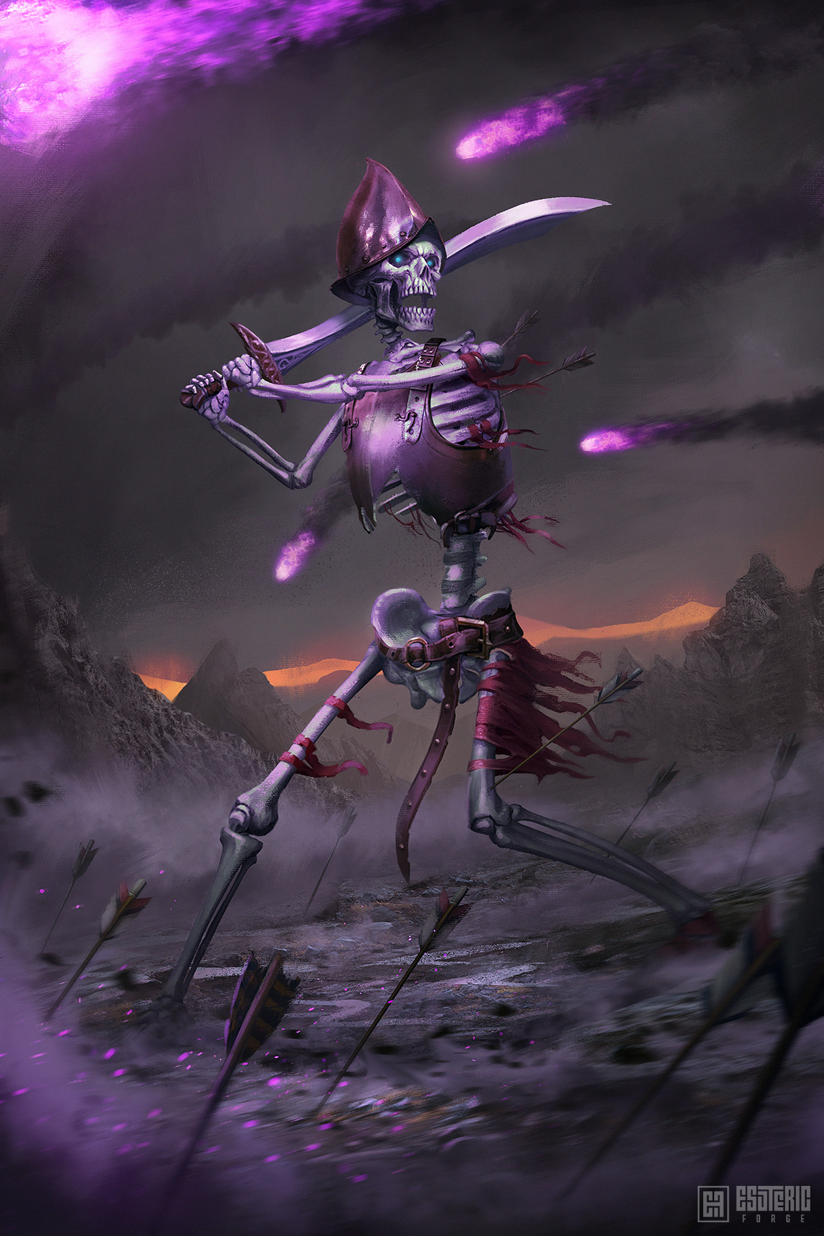 Ivan sevic skeleton warrior