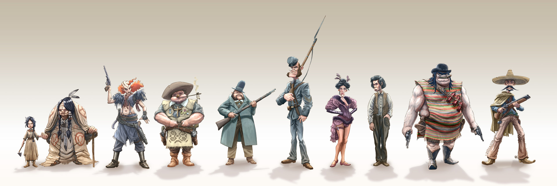 Dirk wachsmuth wild west challenge character lineup bydirkwachsmuth